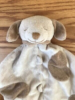 Angel Dear Puppy Dog Brown Spots Tan Security Blanket Lovey
