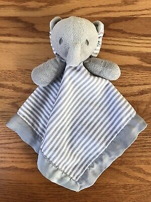 Circo Elephant Lovey Security Blanket Gray White Striped Plush