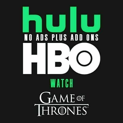 Hulu Premium + Hbo   No Ads   1 Year   Fast Delivery   Warranty