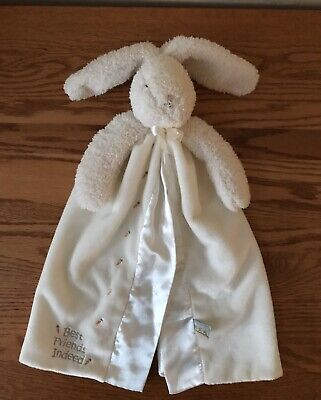 Rabbit Lovey Bunnies by the Bay White Security Blanket Satin Buddy Bunny