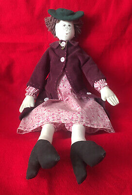 Rag Cloth Doll Plush Grandma Handcrafted 59cm Pre-owned Great Condition
