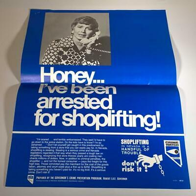 VINTAGE State Of Nevada SHOPLIFTING POSTER Governor Crime Prevention 1979