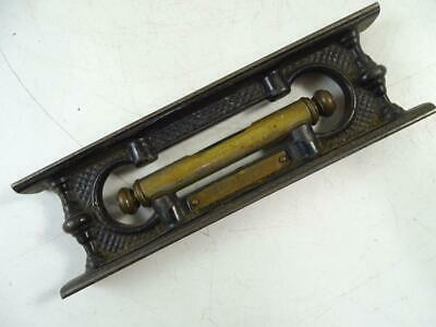 "1883 Antique Victorian Cast Iron Davis Level & Tool Co Brass 7.75"" Long Vintage"