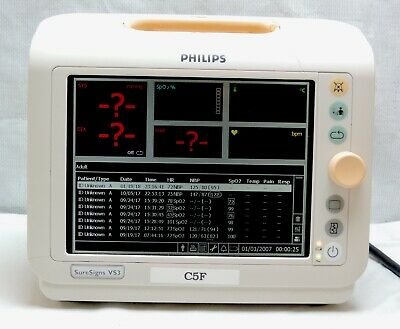 Philips SureSigns VS3 Vital Signs Patient Monitor Medical Hospital