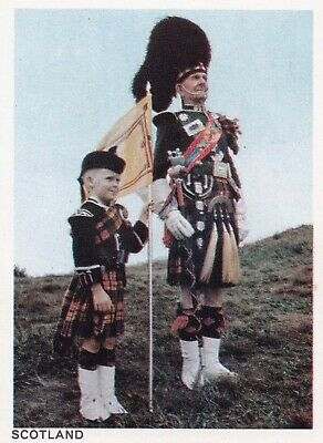 1966 Sanitarium Cereal Card: NATIONAL COSTUMES OF THE WORLD  #14 -  SCOTLAND