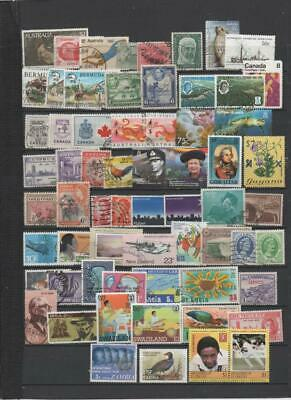 British Commonwealth stamp collection over 60 stamps all different B.C.1