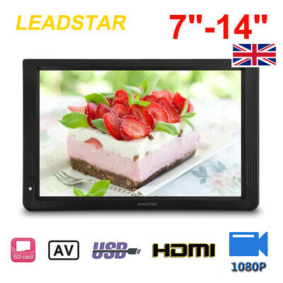 7-14 Inch DVB-T-T2 Digital Portable TV Player HD 1080P Television USB HDMI Car