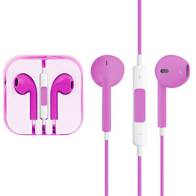 Iphone In Ear Earpods With Mic Handsfree - Jack 3.5 Aux connector PINK
