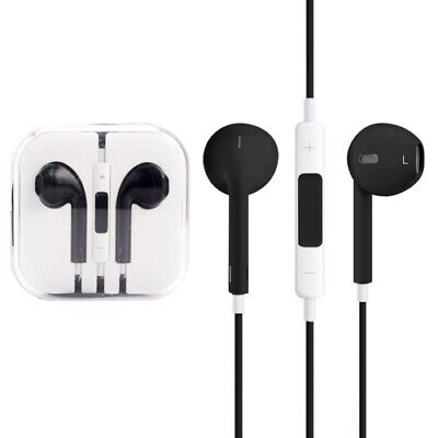 Iphone In Ear Earpods With Mic Handsfree - Jack 3.5 Aux connector BLACK