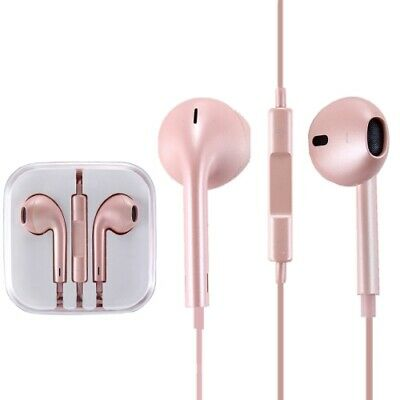 Iphone In Ear Earpods With Mic Handsfree - Jack 3.5 Aux connector ROSE GOLD