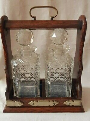 Vintage Tantalus with two Decanters