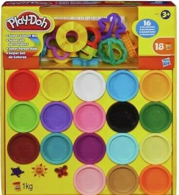 New Play-Doh Super Rainbow Colour Kit 18 Tubs Creative Children's Toy Gift Dough