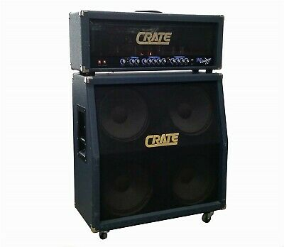 "Crate Blue Voodoo 60 Guitar 4X12"" Speaker Cabinet Bv-412S+Bv-60H Tube Head Amp"