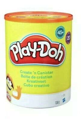 NEW SEALED Play-Doh Create 'n' Canister kit set 20 TUBS 45 ACCESSORIES Hasbro