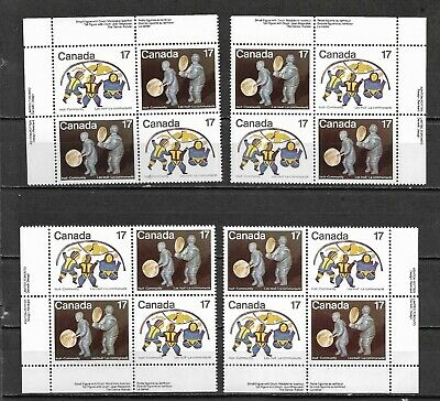 pk49936:Stamps-Canada #838a Inuit Shelter 17 cent Plate Block Set-MNH