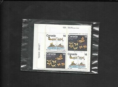 pk49888:Stamps-Canada PO Pack #772a Inuit Travel 14 cent Plate Block Set-MNH