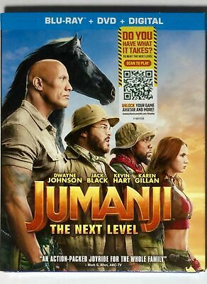 USED Blu Ray Jumanji The Next Level NO DIGITAL CODES (SEE DESCRIPTION)