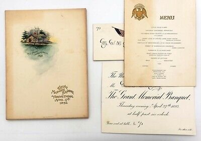 1893 Ulysses S Grant Army Navy Banquet Artifacts- Union League