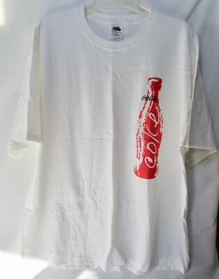 Coca-Cola Tan Tee T-Shirt Large As Is Photochromic Color Change Bottle