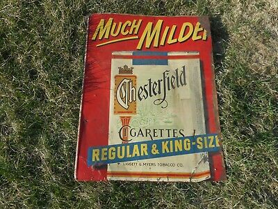 Vintage Chesterfield Cigarette Tobacco Tin Advertising SIGN