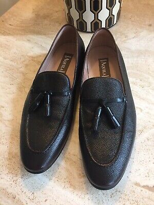 Aquila Mens Alberto Loafers - Dark Chocolate-42 European Size RRP $299