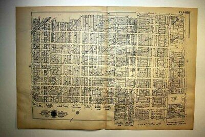1916 Detroit Woodward Cass Canfield Ave Athletic Club Grounds Plat Map Baist's