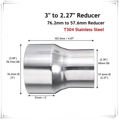 """38mm 1.5/""""inch x 1.75M T304 stainless steel 1.5mm wall tube pipe exhaust repair"""