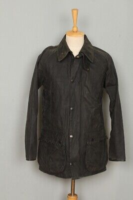 Mens Barbour Mark Phillips Waxed Jacket Navy Size 34 Small