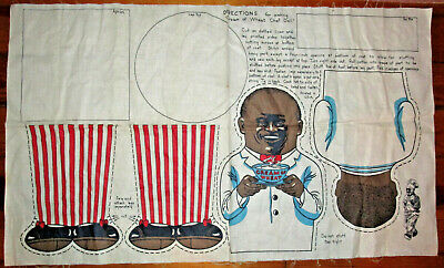 Vtg Cream Of Wheat Cereal Uncut Chef Cloth Doll Advertising Black Americana
