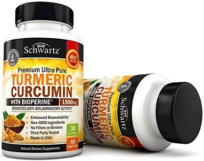 Turmeric Curcumin with BioPerine 1500mg. Highest Potency Available.