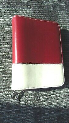 Franklin Covey Red & Tan Day Planner 35041.570 Six Ring CO5044 Light Marks VGUC
