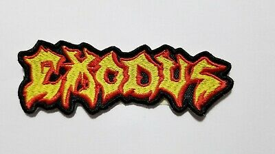 Exodus Yellow Logo Embroidered Patch
