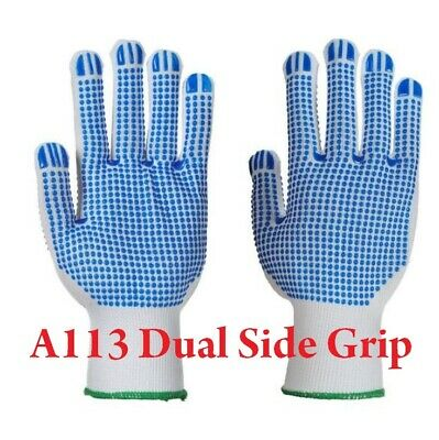 Portwest DUAL Polka Dot Plus Gloves A113 - Double Sided Grip - NEW