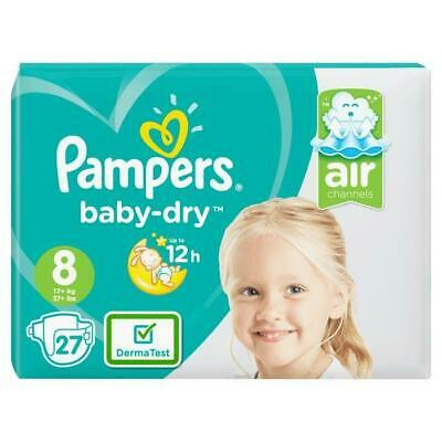 PAMPERS Baby Dry Taille 8. 17+ kg. 27 couches