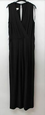 HOBBS Ladies Black Jordana Sleeveless V-neck Wrap Up Waist-Tie Jumpsuit UK10 NEW