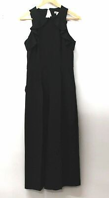 WHISTLES Ladies Black Sleeveless Ruffle Cut Out Back Culottes Jumpsuit UK8