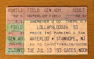 1993 7-13 Lollapalooza New Jersey Concert Ticket Stub Rage Against The Machine