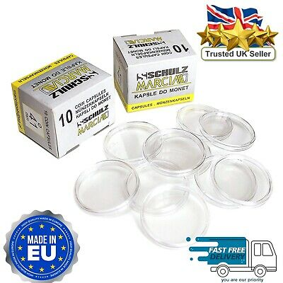 High Quality Round Coin Capsules All Sizes (2oz,1oz,£2,£1,50p) Scratch Resistant