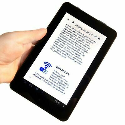7inch eBook Reader Touch Screen With PU Case WiFi Smart Android 4.1 Free Bundle