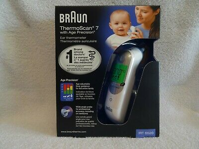 Braun ThermoScan 7 IRT6520 Easy Read LCD Ear Thermometer with Age Precision, New