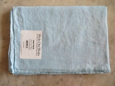 Morris Blue 10/% Off Weeks Dye Works 30 count Hand-dyed Linen