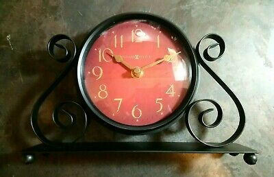 Howard Miller Marisa Mantel Table Clock Convex Glass Tested Working In Box