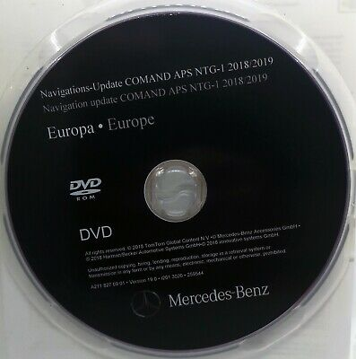 Mercedes Benz DVD Comand Aps Europa NTG1 Deutschland 2019 Navi Navigation