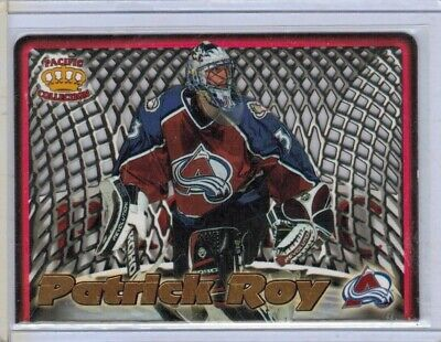 1997 - 98 pacific in the cage laser cuts # 5 patrick roy