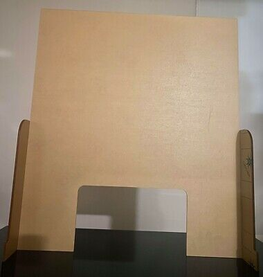 Heavy duty Portable Counter Shield, Sneeze guard, Cashier protection for counter