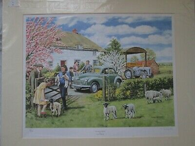 """/""""Hop in Shep/"""" Series One Land Rover by Trevor Mitchell Art Print 17.5/"""" x 13.5/"""""""