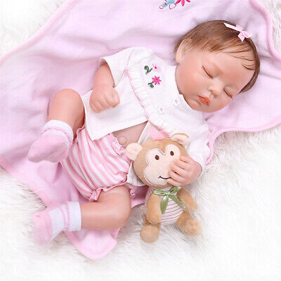 Lifelike Baby Girls Dolls Newborn Silicone Realistic Reborn Baby Dolls Sleeping