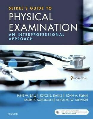 NEW Seidel's Guide to Physical Examination By Solomon Hardcover Free Shipping