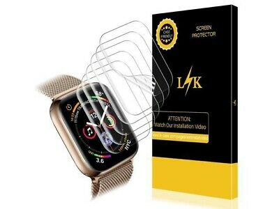 LK Screen Protector/6 pack For Apple Watch 44Mm Series 5/4 Max Coverage flex...