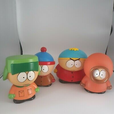 South Park Action Figures Fun 4 All Corp 1998 Kyle Stan Kenny & Cartman See Pics